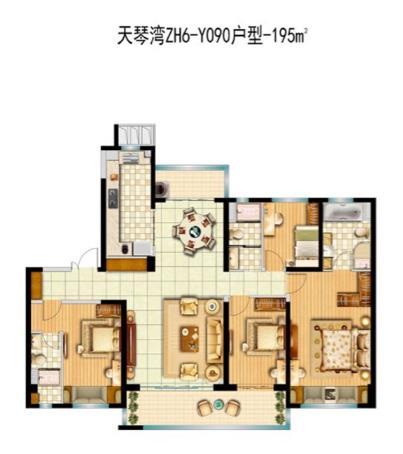 ZH6-Y090-4室2厅3卫