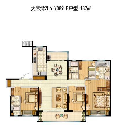 ZH6-Y089-B-4室2厅3卫