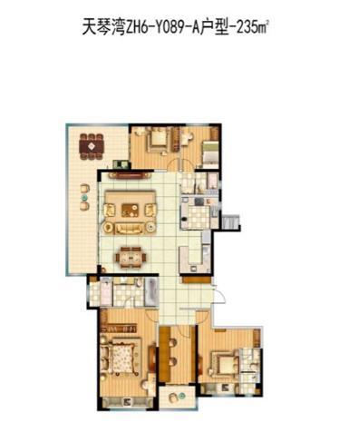 ZH6-Y089-A-5室2厅3卫
